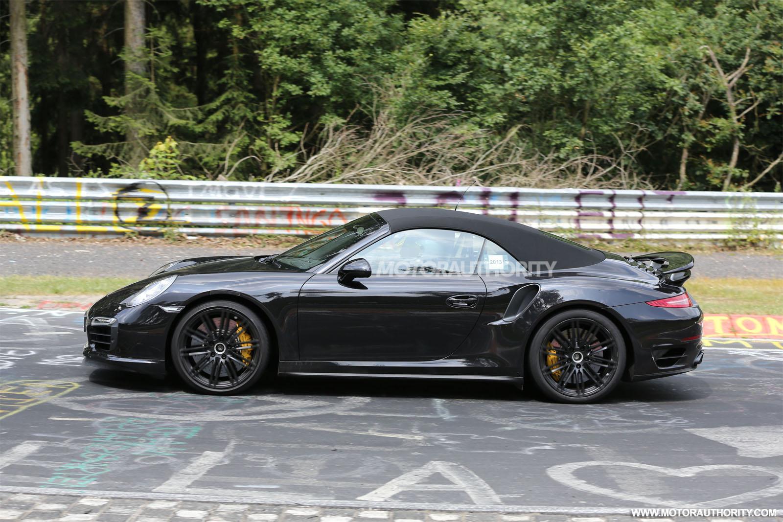 2014 porsche 911 turbo s cabriolet spy shots