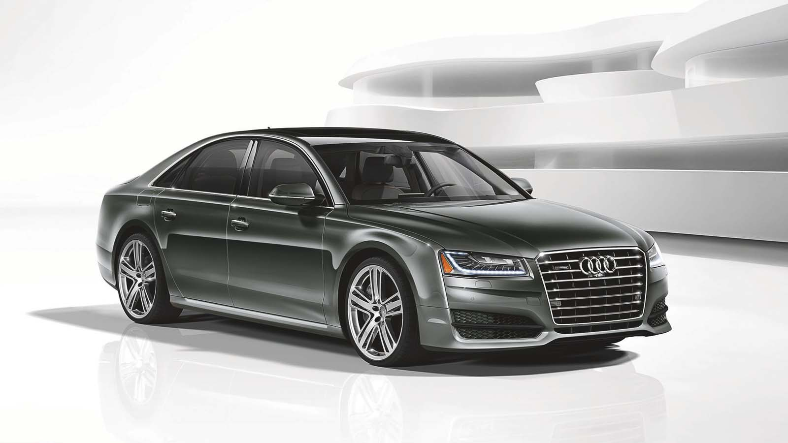 2016 audi a8 4 0t sport gets power bump tweaked styling. Black Bedroom Furniture Sets. Home Design Ideas