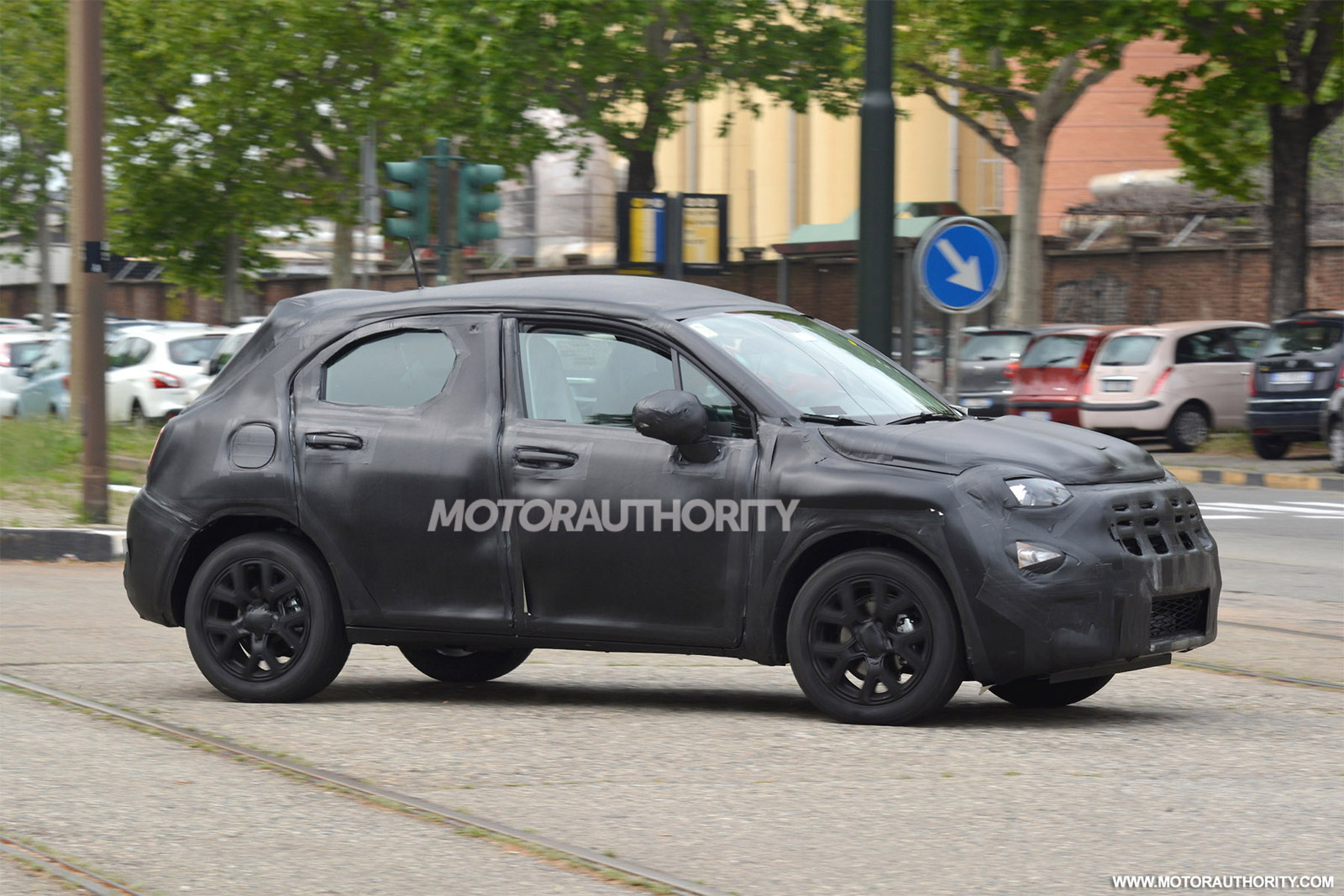 2016 fiat 500x spy shots. Black Bedroom Furniture Sets. Home Design Ideas