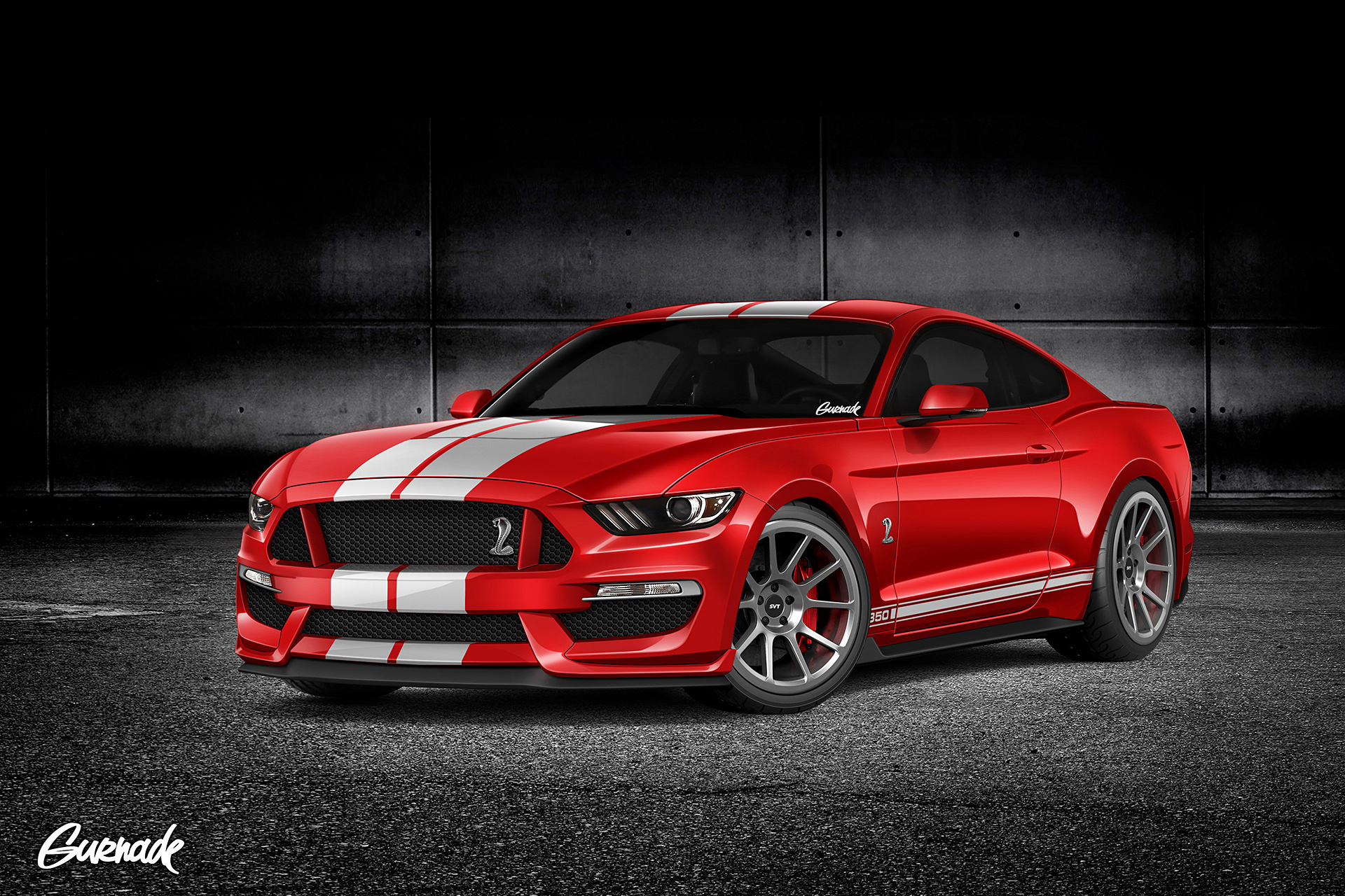2016 ford mustang gt350 rendered. Black Bedroom Furniture Sets. Home Design Ideas