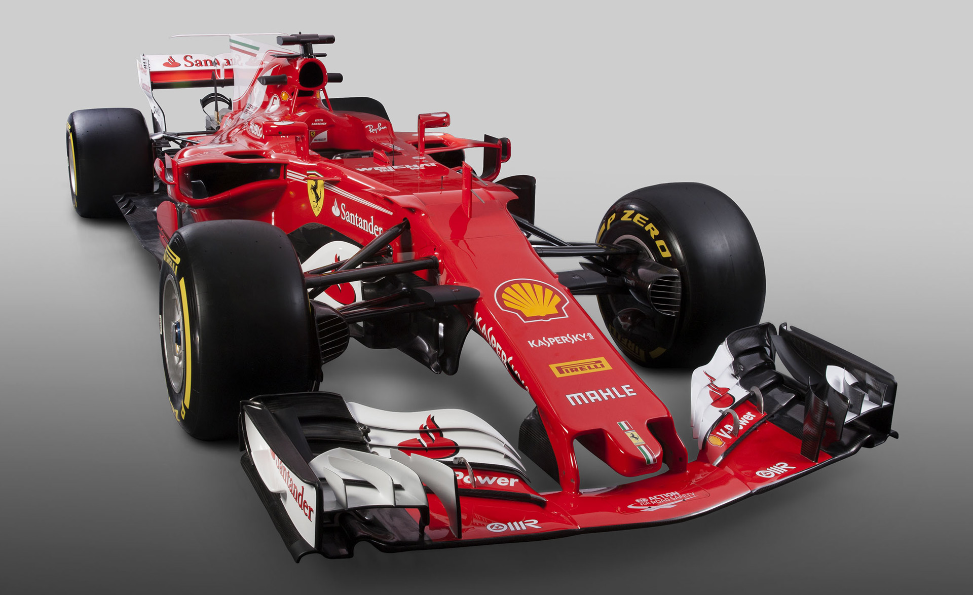Ferrari Sf70h 2017 F1 Car Revealed Features Alfa Romeo Logo