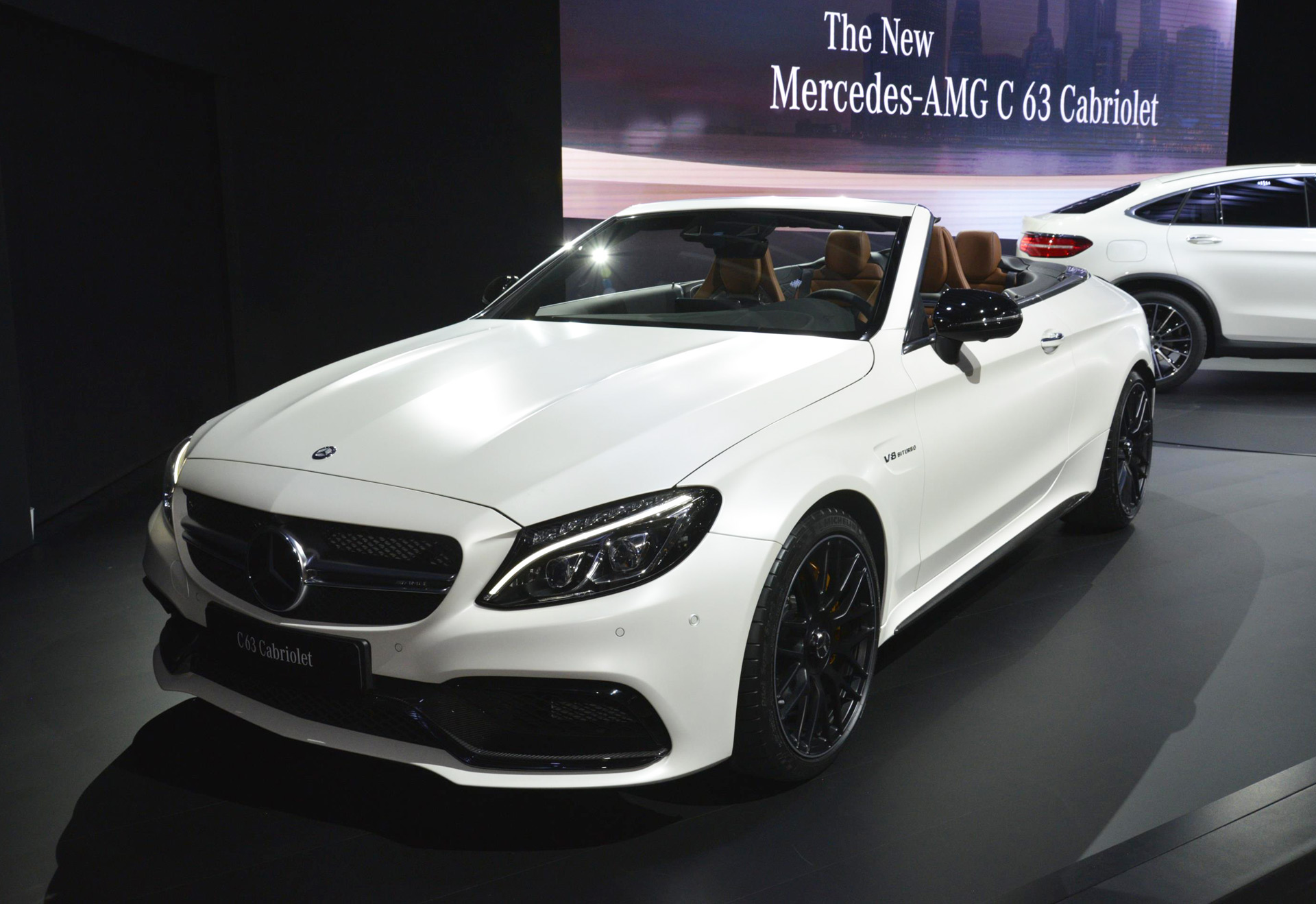 2017 mercedes amg c63 cabriolet debuts in new york live photos and video. Black Bedroom Furniture Sets. Home Design Ideas