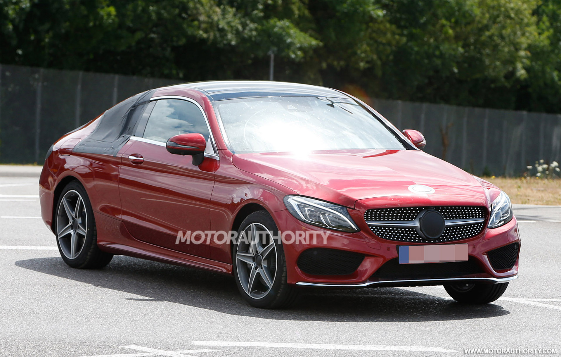 2017 mercedes benz c class coupe spy shots. Black Bedroom Furniture Sets. Home Design Ideas