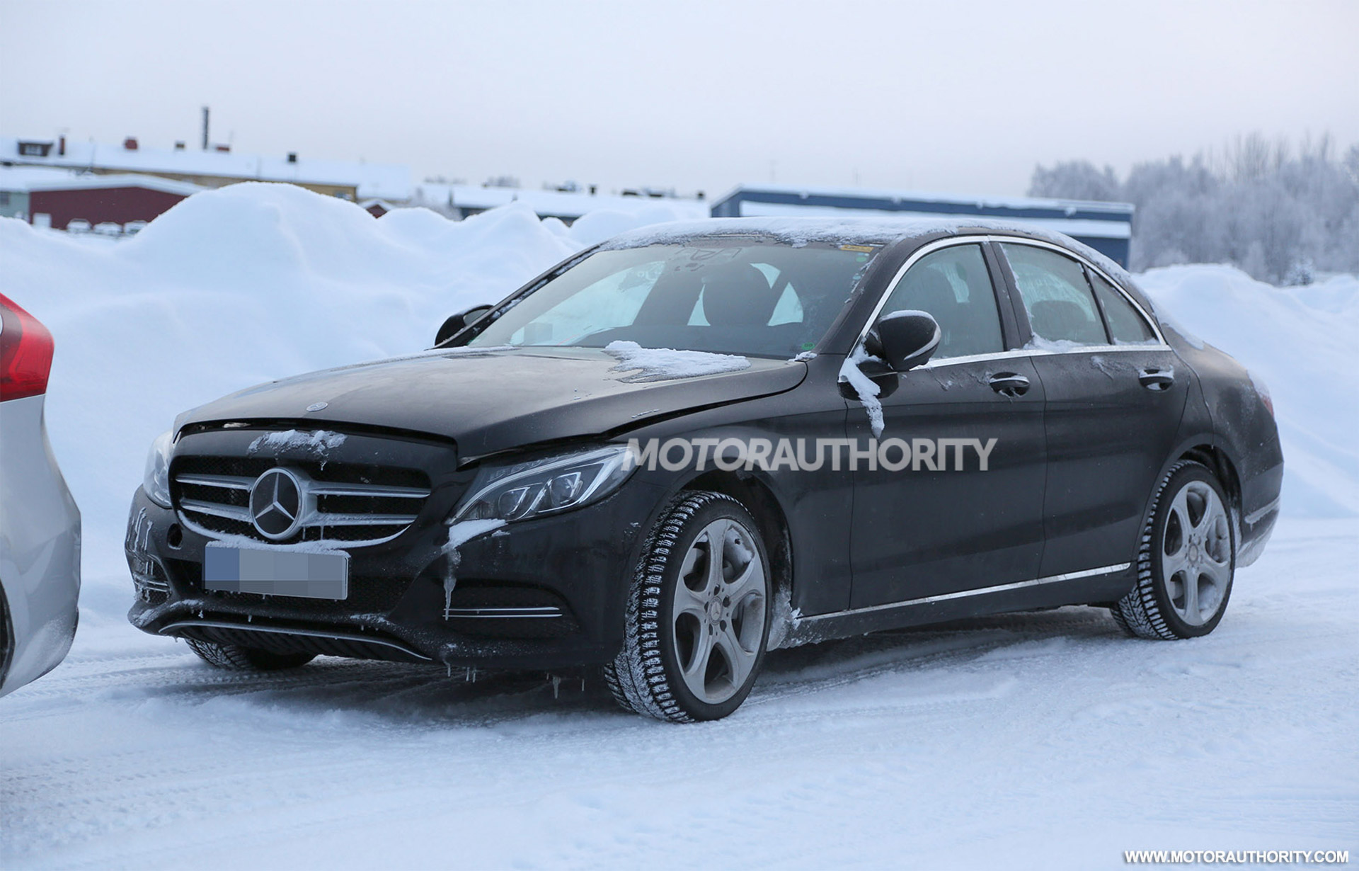 mercedes benz c class spied with new tech updates. Black Bedroom Furniture Sets. Home Design Ideas
