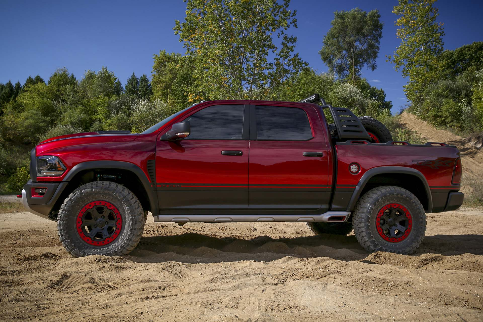 ram just unveiled the hellcat powered ram rebel trx concept. Black Bedroom Furniture Sets. Home Design Ideas