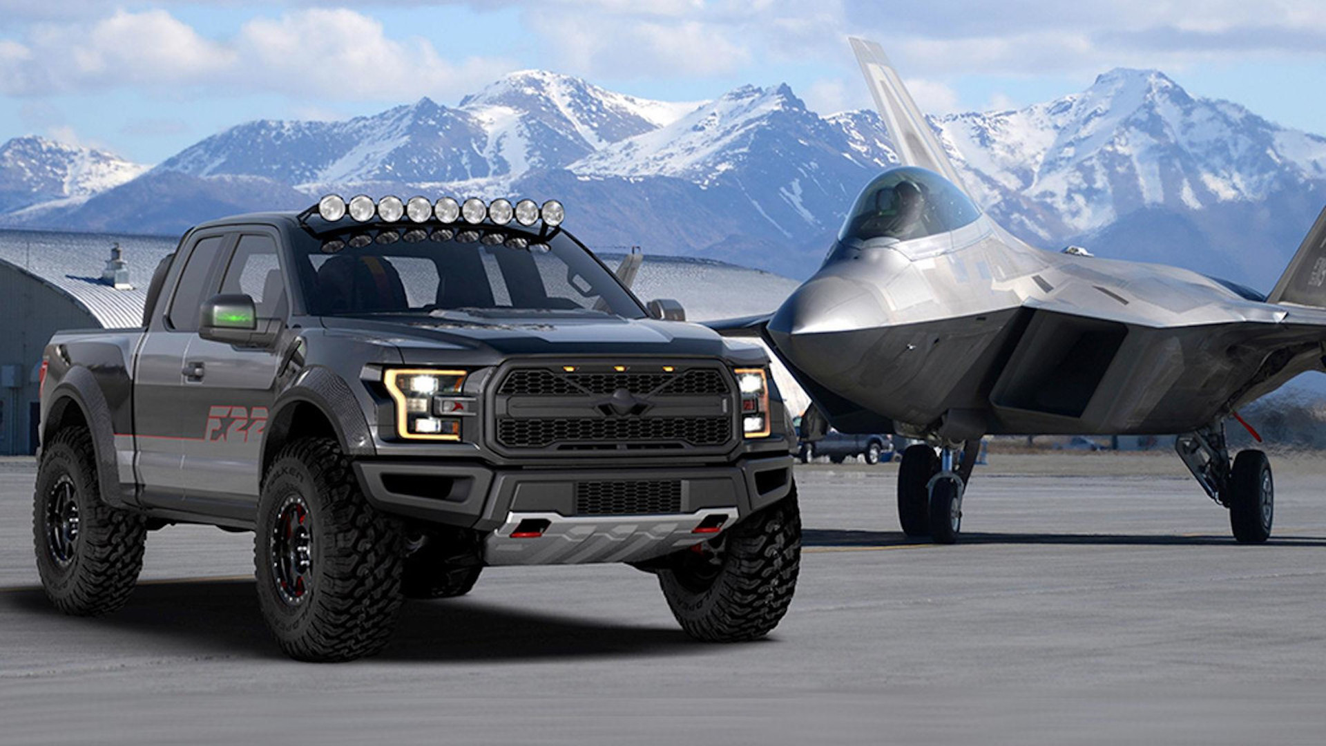 f 22 inspired f 150 raptor is the latest special ford built for eaa airventure. Black Bedroom Furniture Sets. Home Design Ideas