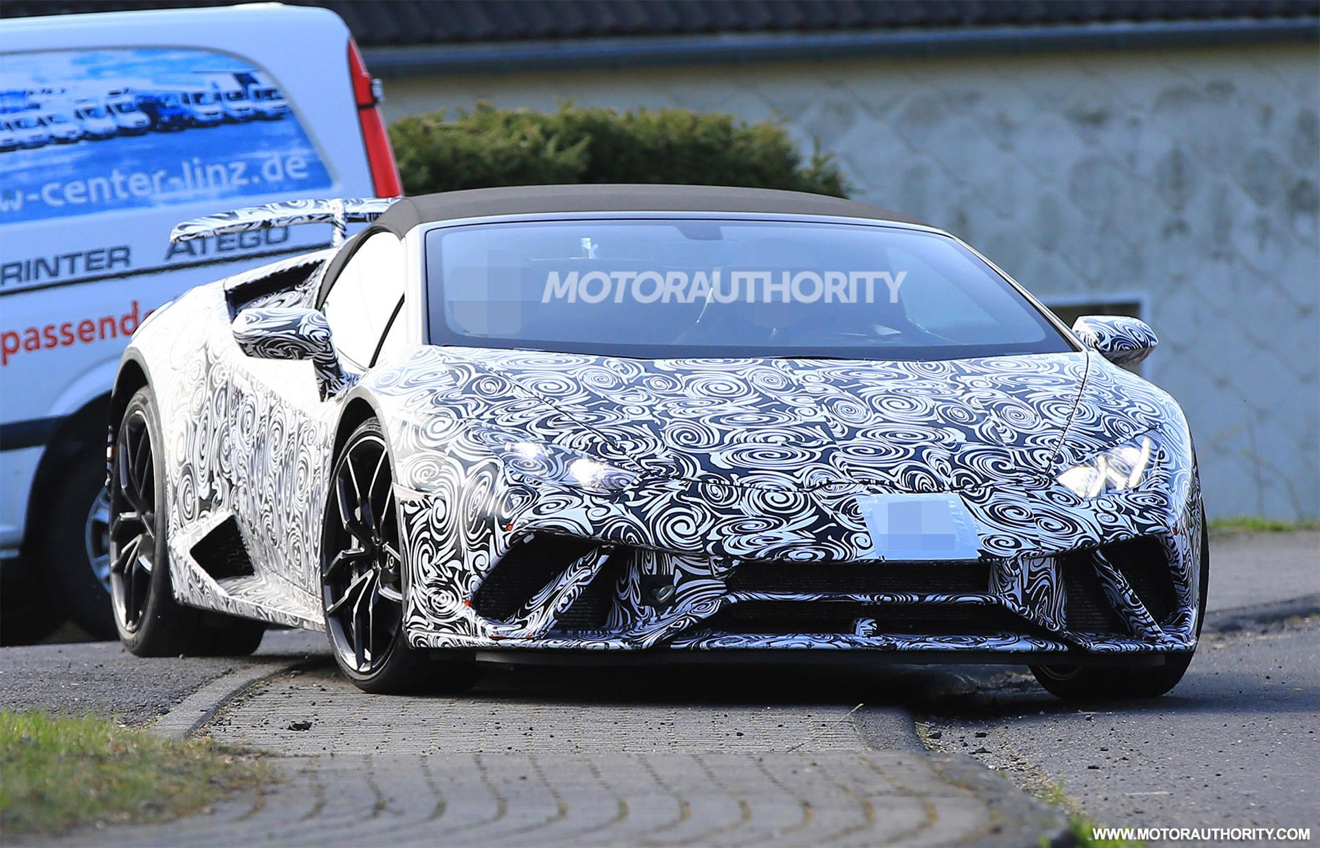 2018 lamborghini huracan performante blue. Delighful Performante 2018 Lamborghini Huracn Performante Spyder Spy Shots On Lamborghini Huracan Performante Blue