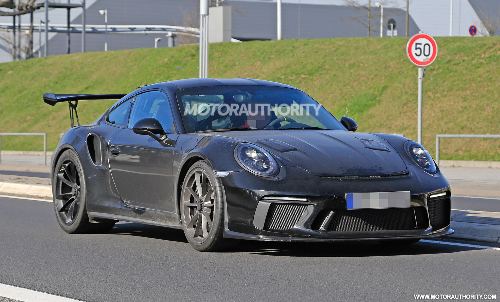 2018 porsche 911 gt3 rs spy shots autozaurus. Black Bedroom Furniture Sets. Home Design Ideas