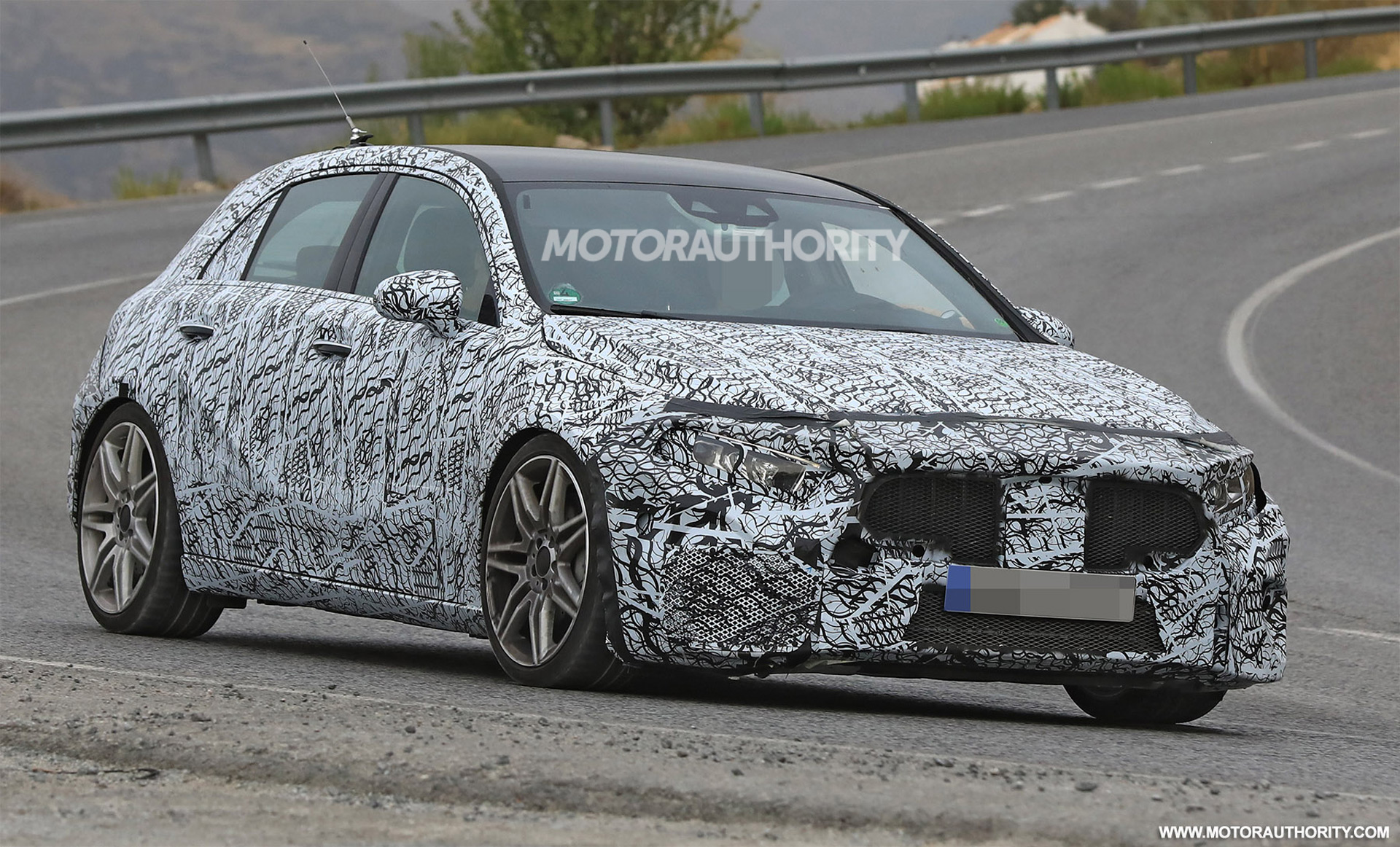 2019 mercedes amg a45 hatchback spy shots. Black Bedroom Furniture Sets. Home Design Ideas