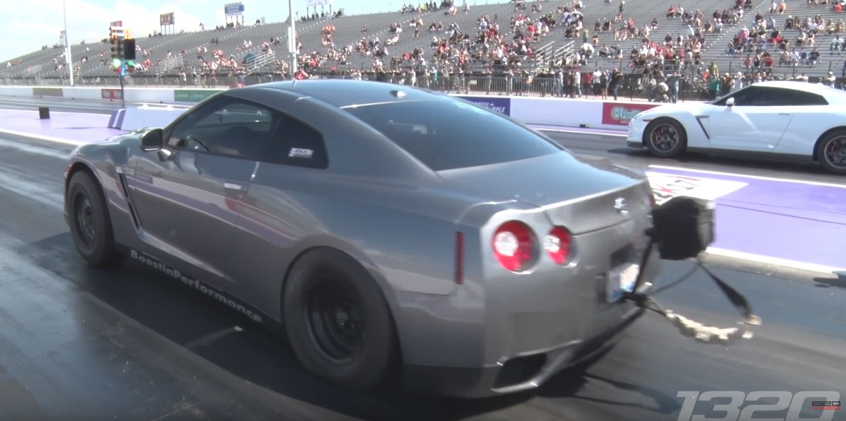 This 1,700-hp Nissan GT-R has a trick to stage properly at ...
