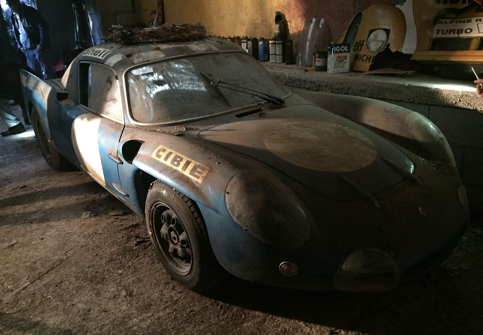 historic alpine le mans prototype preserved in french shed. Black Bedroom Furniture Sets. Home Design Ideas