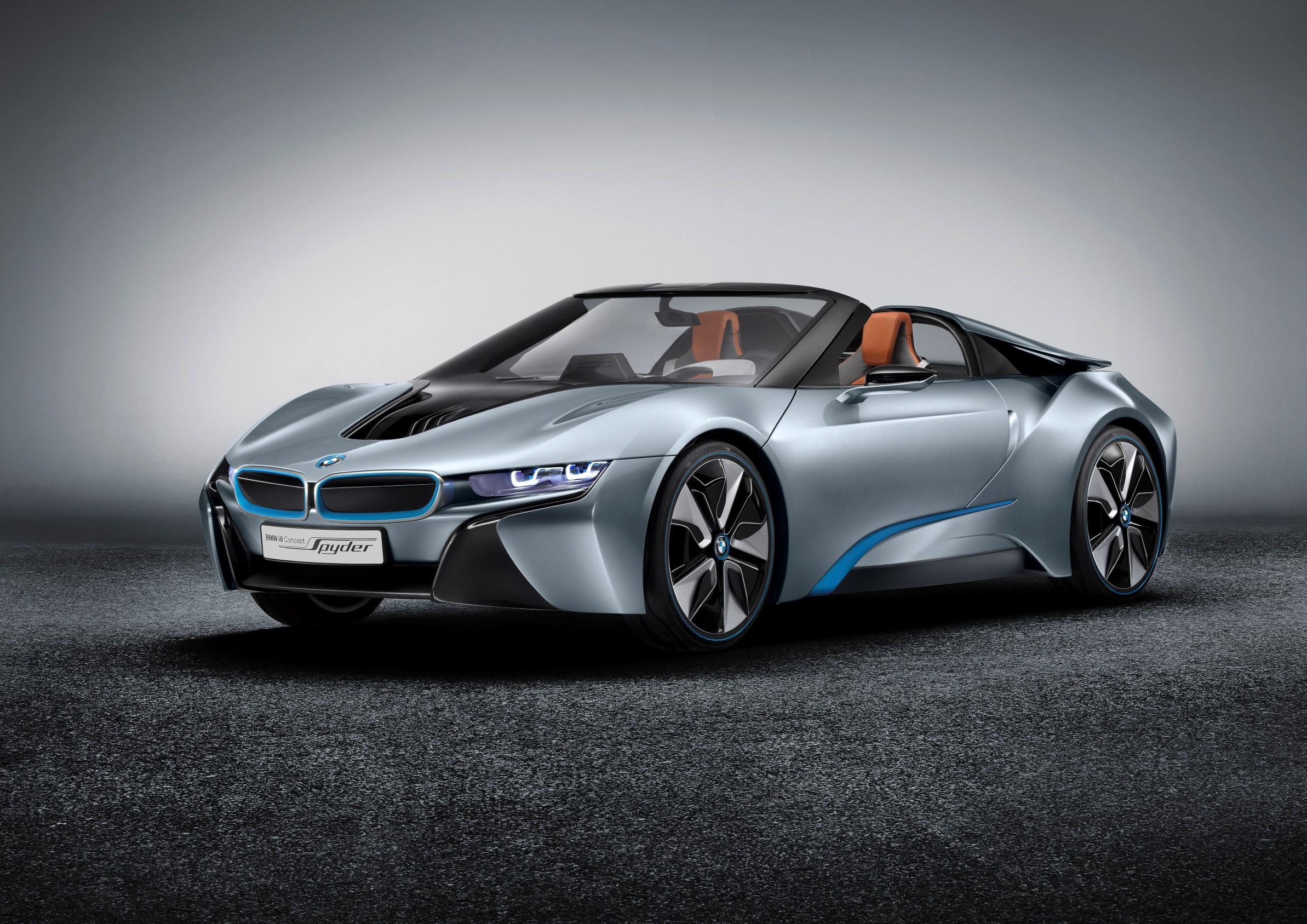 BMW's Electric Range Grows With 2015 BMW i8 Concept Spyder