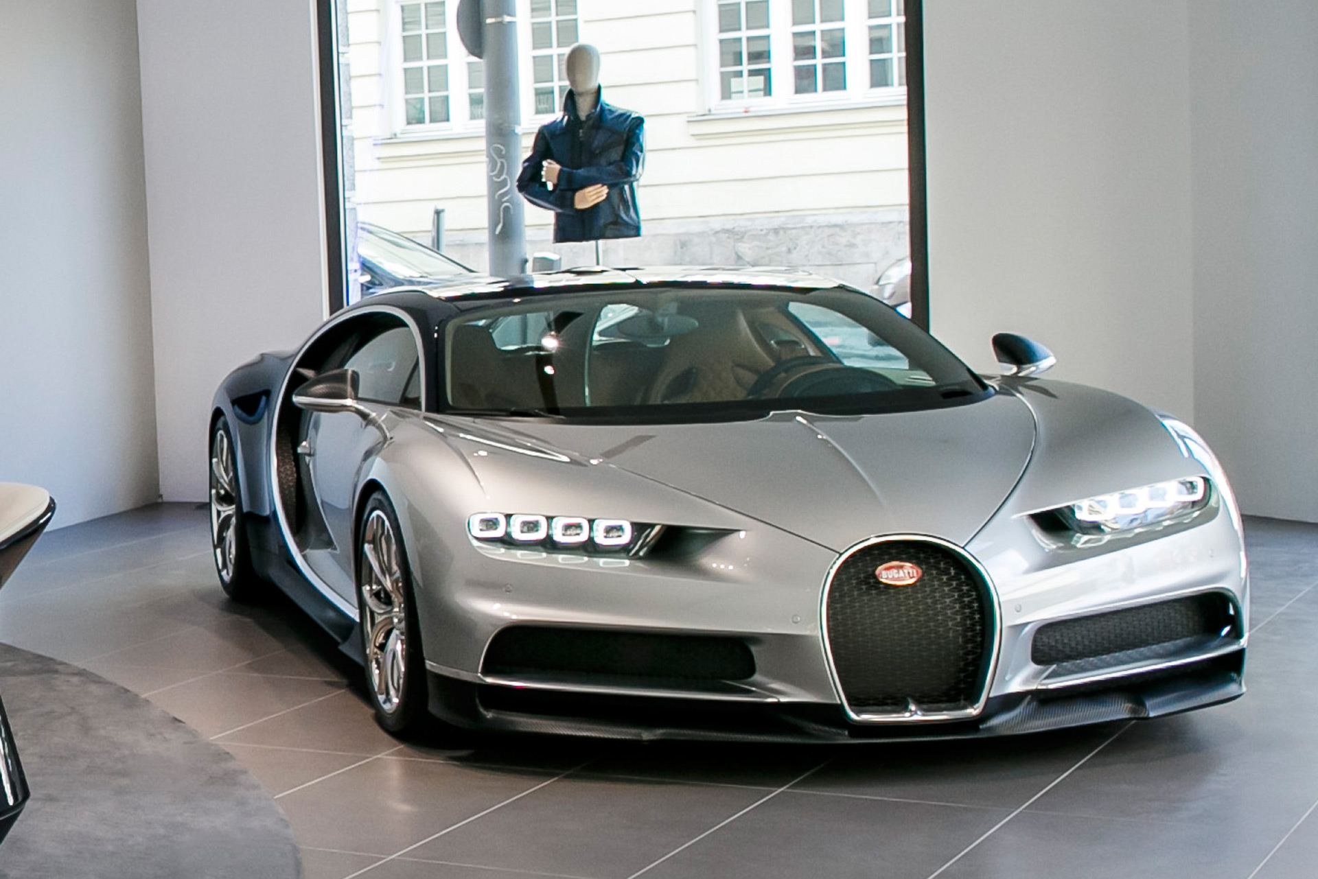 Silver Chiron Is Star Of Bugatti S New Munich Boutique And Showroom