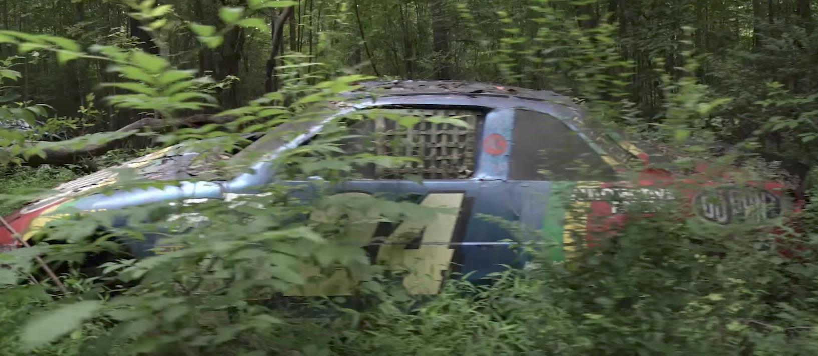 dale earnhardt jr owns  secret race car graveyard