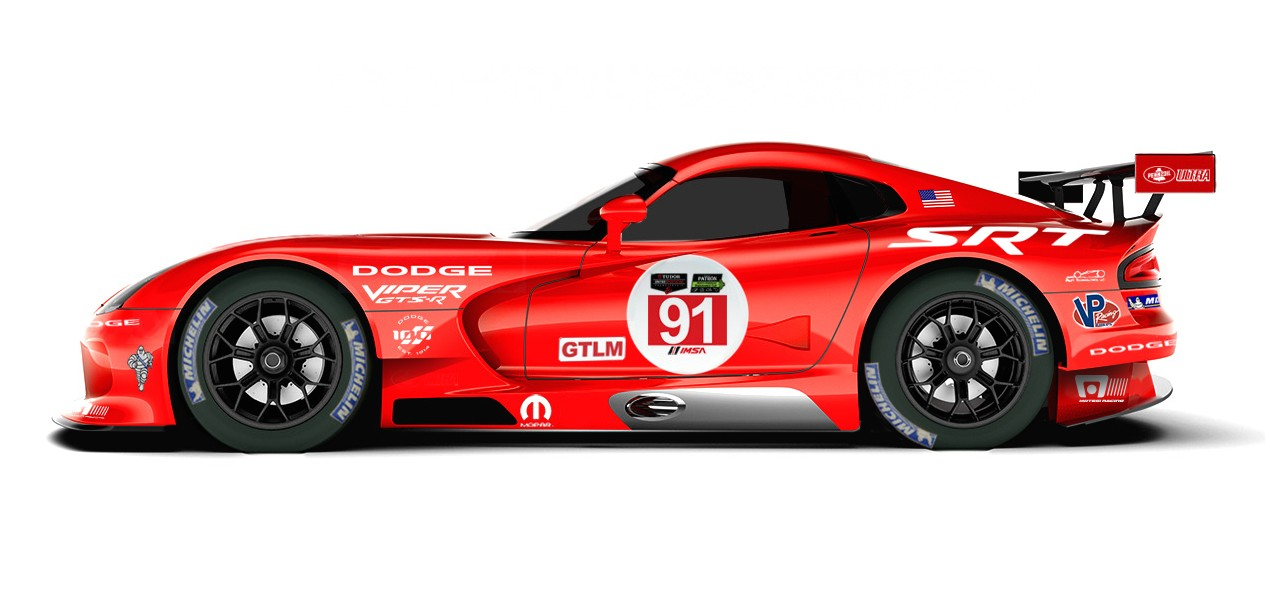 Mini Cup Race Car >> Racing Vipers To Wear Le Mans-Winning Dodge Livery Again