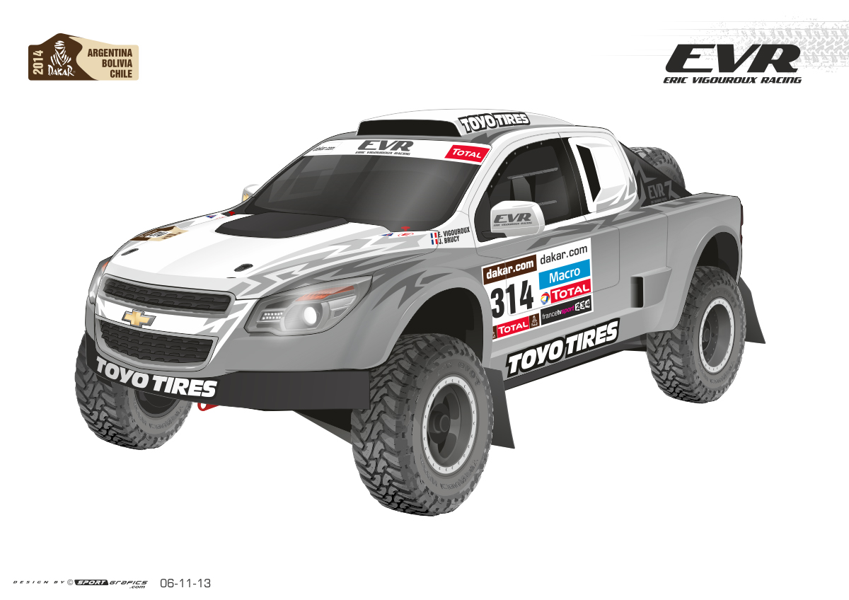 EVR Proto VX 101 Rally Raid Concept Takes on Dakar With Corvette LS7 ...