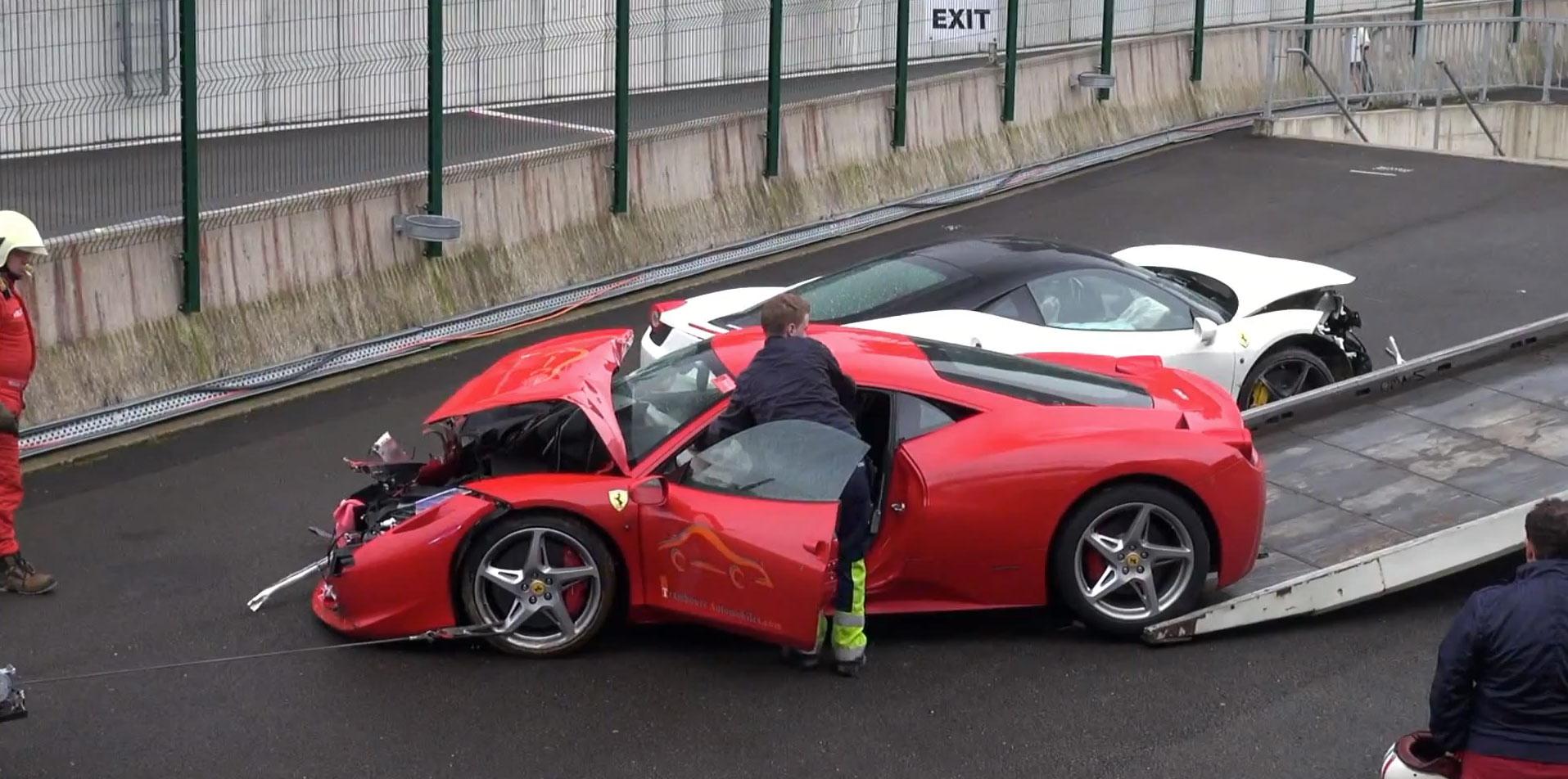 It S A Ferrari Smashtravaganza At Spa Francorchamps Video