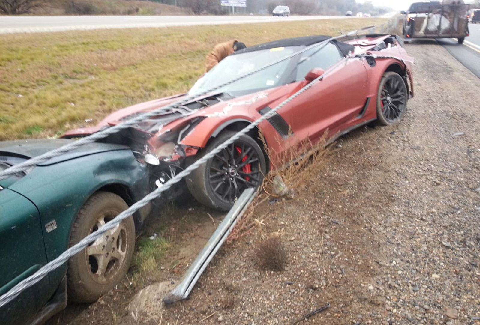 2018 Zo6 For Sale >> First 2015 Chevy Corvette Z06 Convertible Crashed
