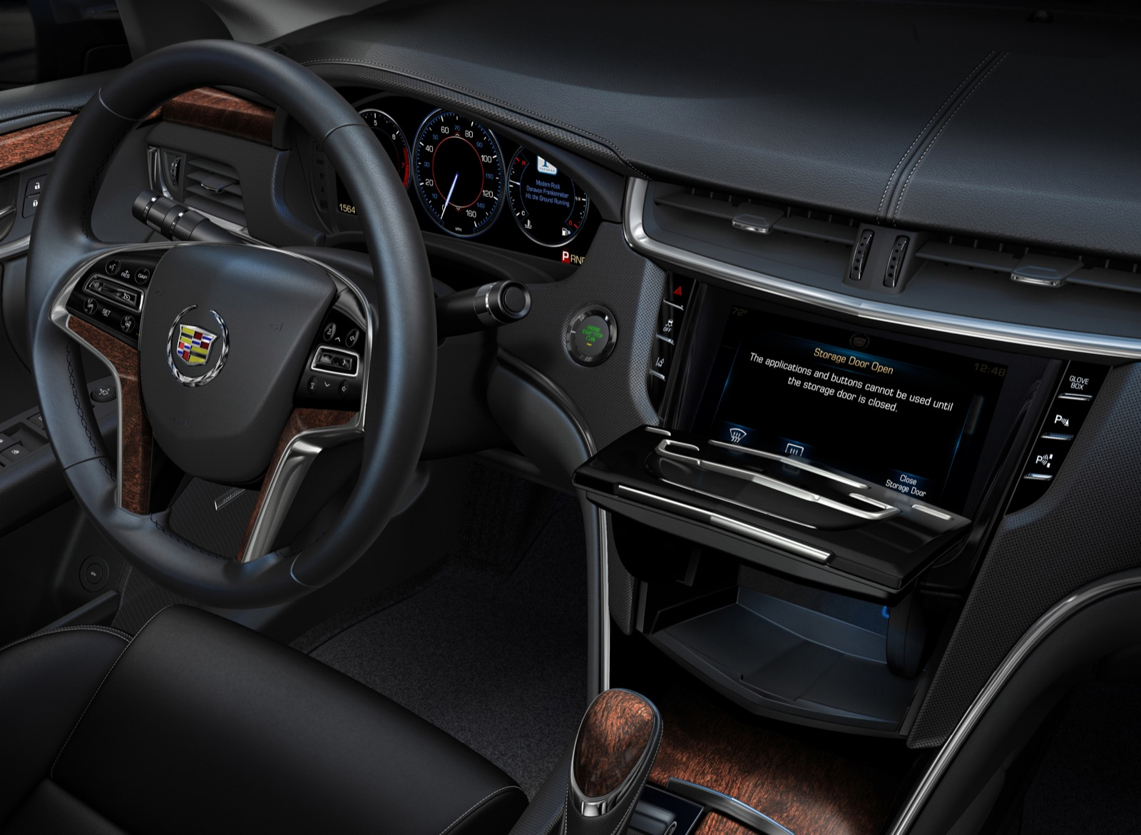 cadillac xts  debut cue touch screen interface software platform