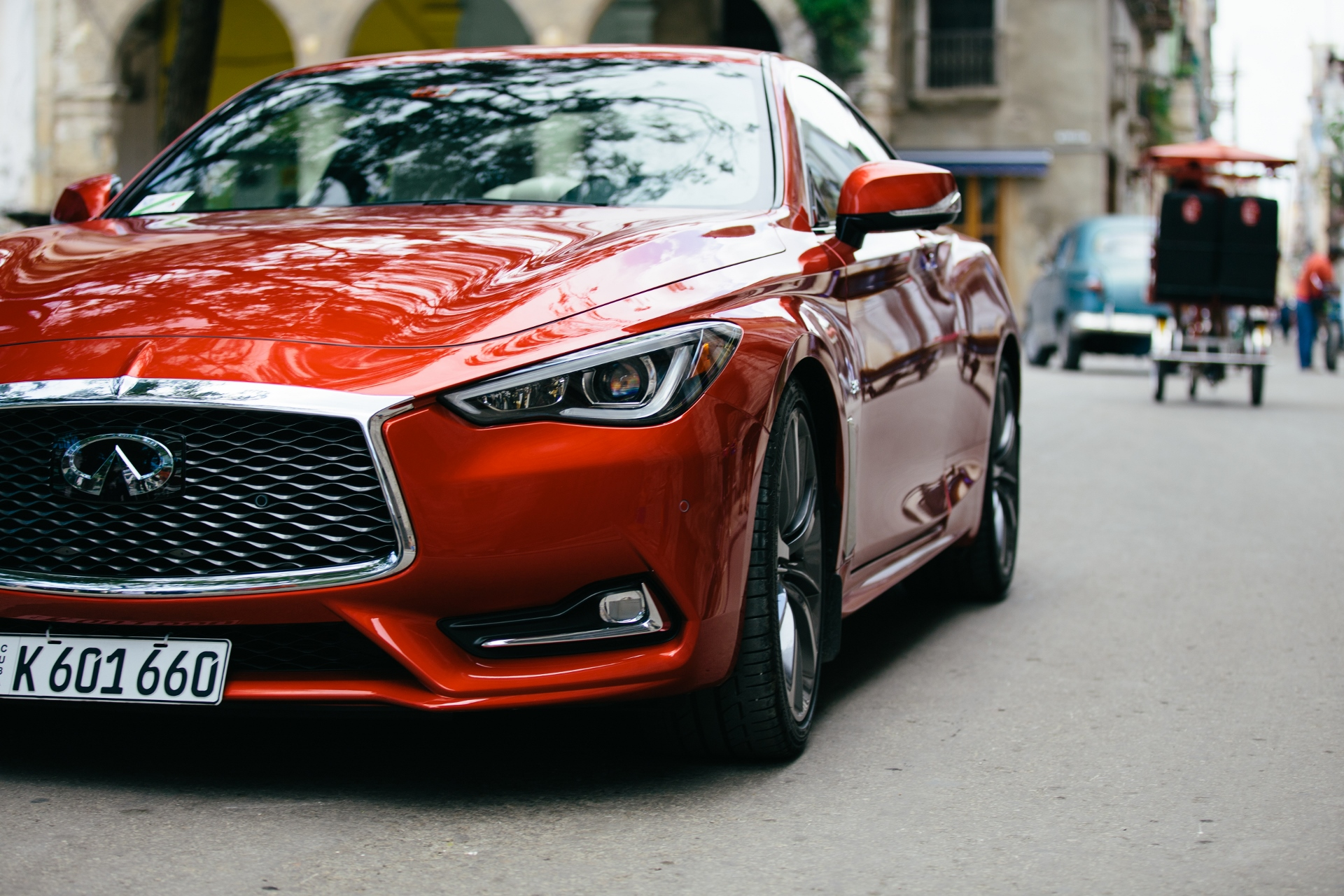 infiniti takes first american made car to cuba in 58 years. Black Bedroom Furniture Sets. Home Design Ideas
