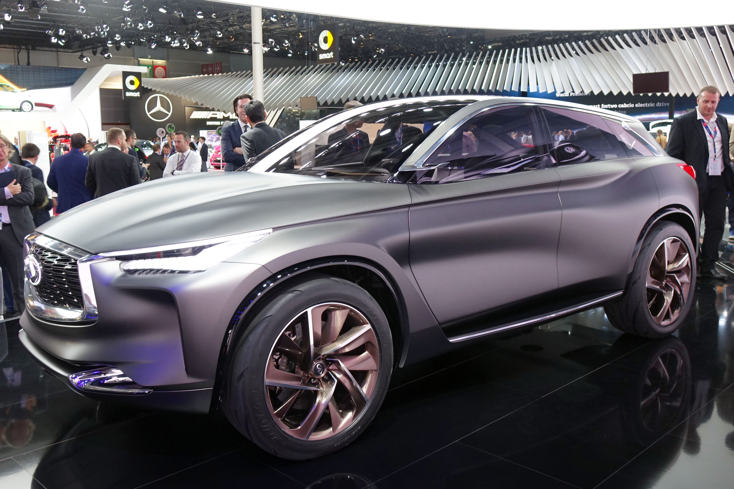 Most Expensive Lexus >> Infiniti QX Sport Inspiration wears new clothes in Paris