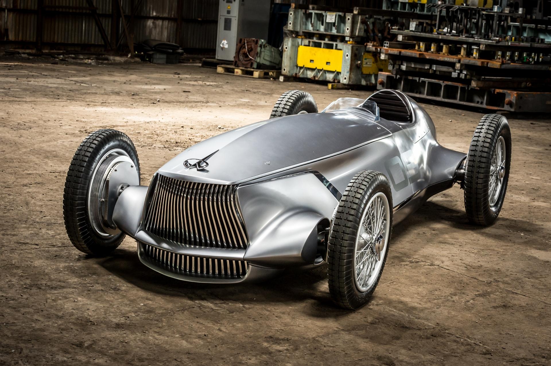 infiniti reveals  u0026 39 what if u0026 39  prototype 9 1940s grand prix racer ahead of pebble beach
