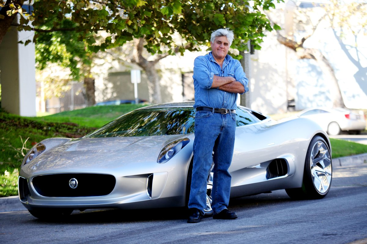 video jay leno drives  jaguar   concept   la show