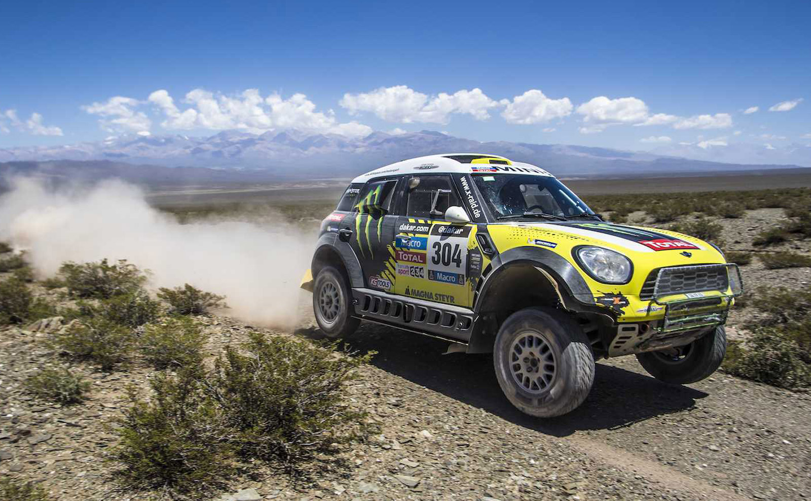 Raid s joan roma drives mini all4 racing to 2014 dakar rally