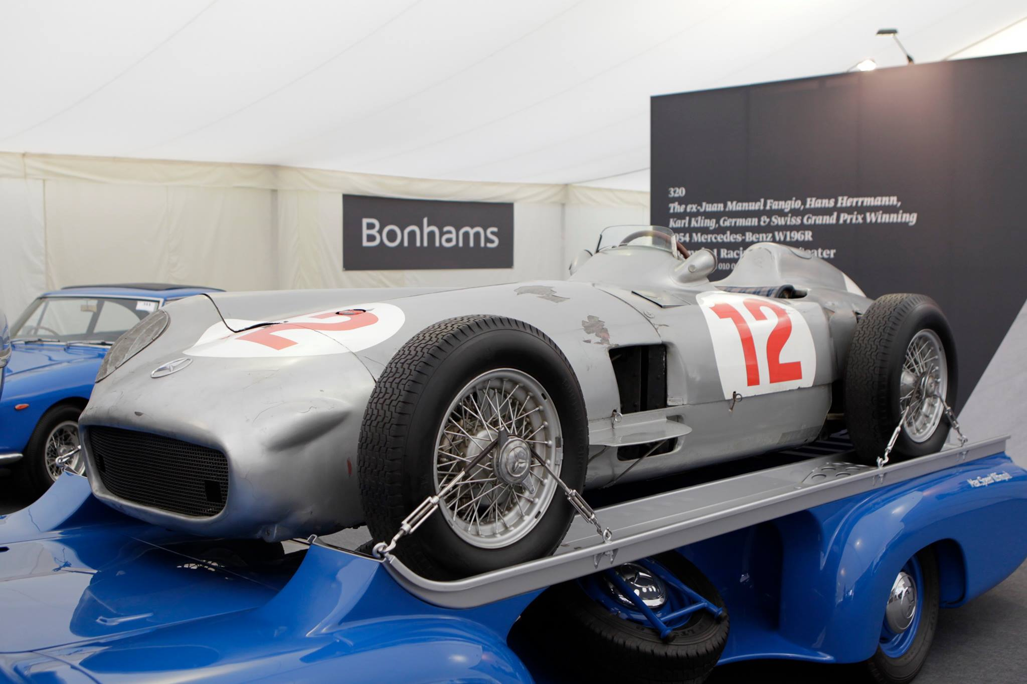 Fangio 39 s mercedes benz 1954 f1 car sold for 29 7 million for Mercedes benz f1