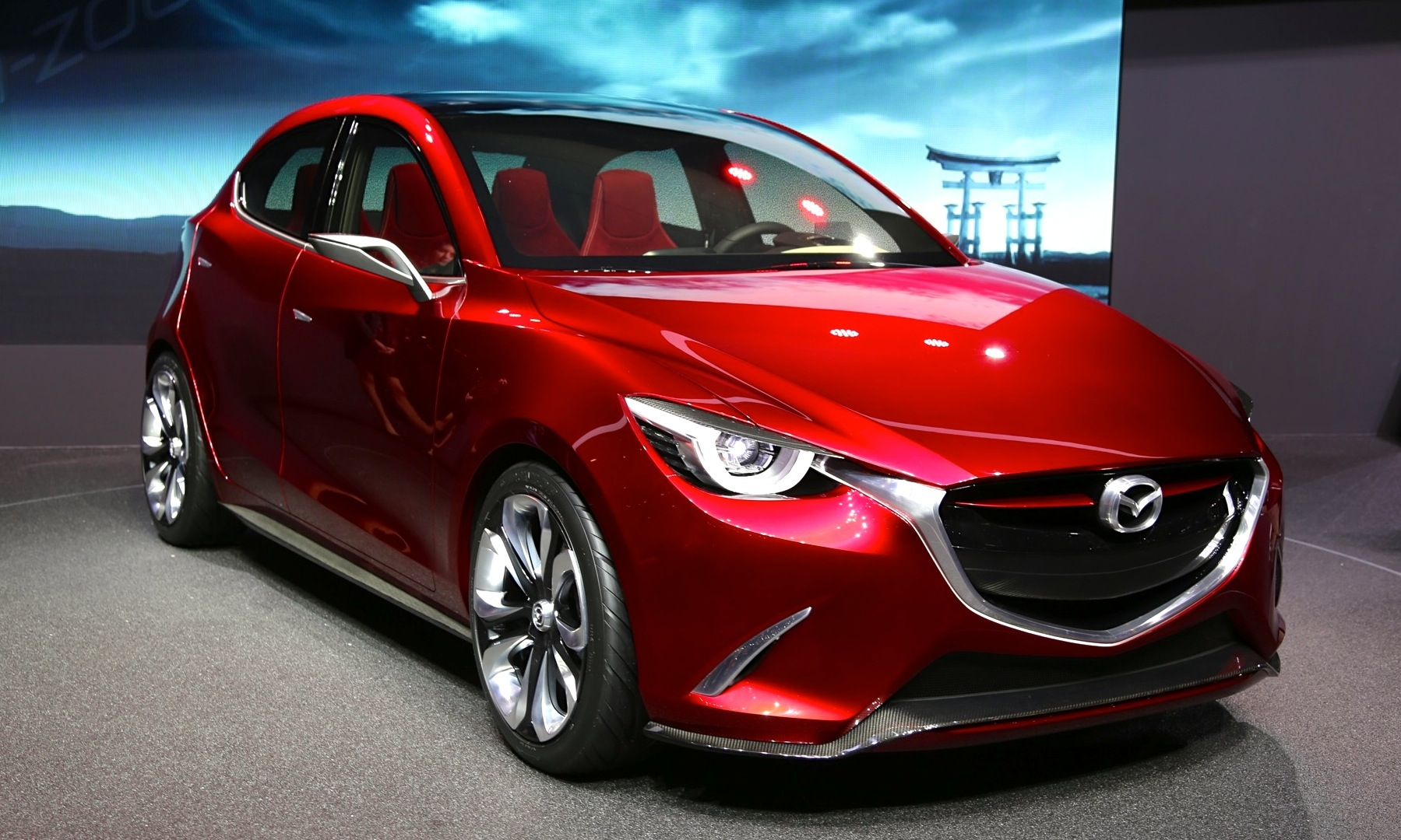 next gen mazda 2 previewing hazumi concept live from geneva. Black Bedroom Furniture Sets. Home Design Ideas