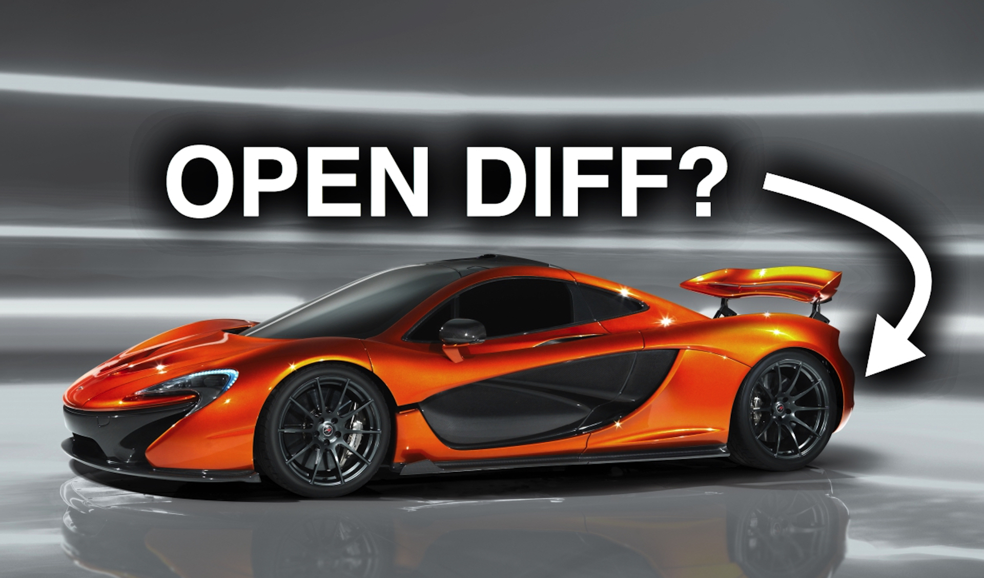 Rc Car Racing >> Why does the McLaren P1 have an open differential?