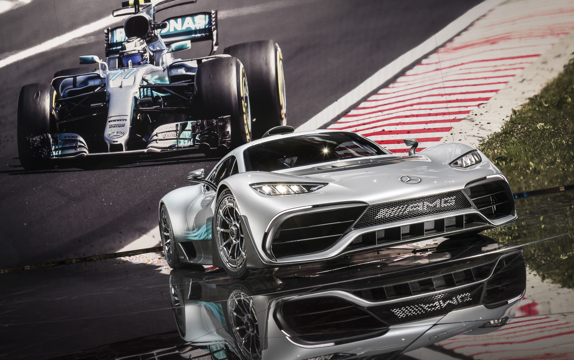 mercedes amg 39 s project one has landed and its f1 powertrain has over 1 000 hp. Black Bedroom Furniture Sets. Home Design Ideas