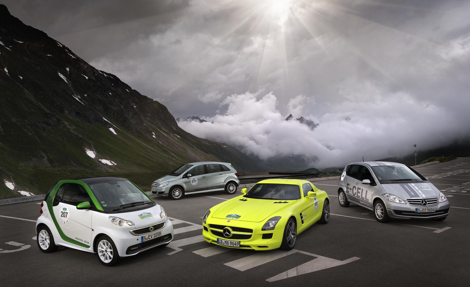 Sls amg e cell to tackle silvretta e car rally for Mercedes benz austria