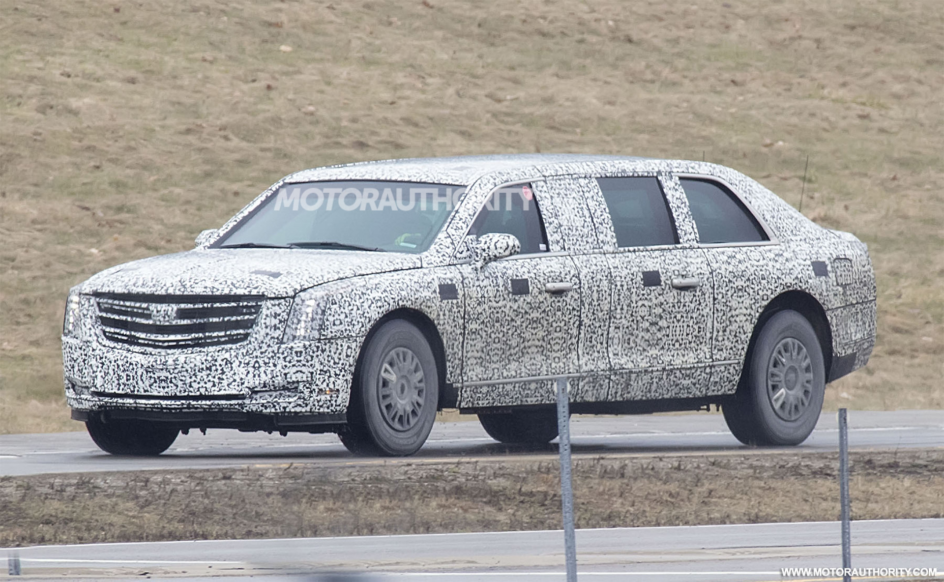 Cadillac\'s new \'Beast\' presidential limousine for Donald Trump spied ...