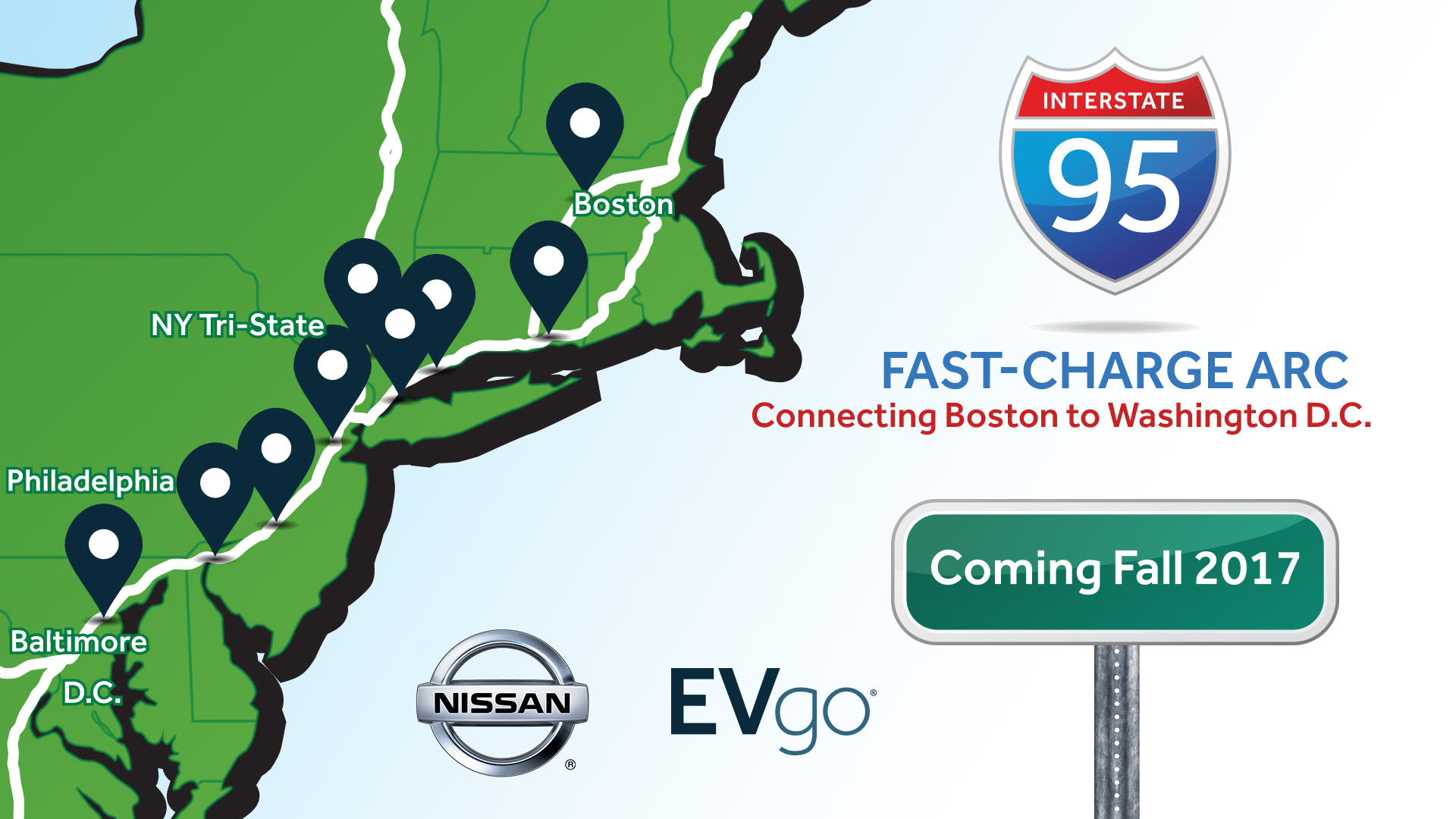 Nissan, EVgo add Boston-to-DC fast chargers; BMW adds charging to national parks