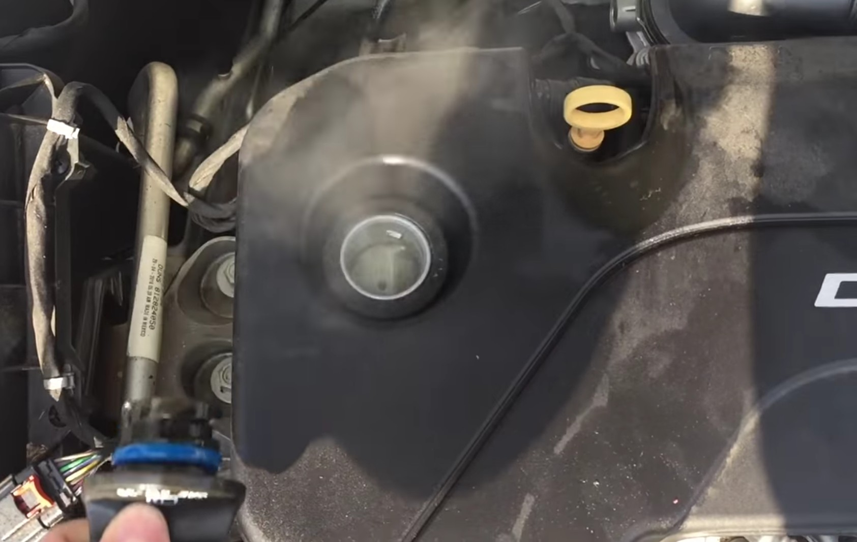 What engine blow-by looks like