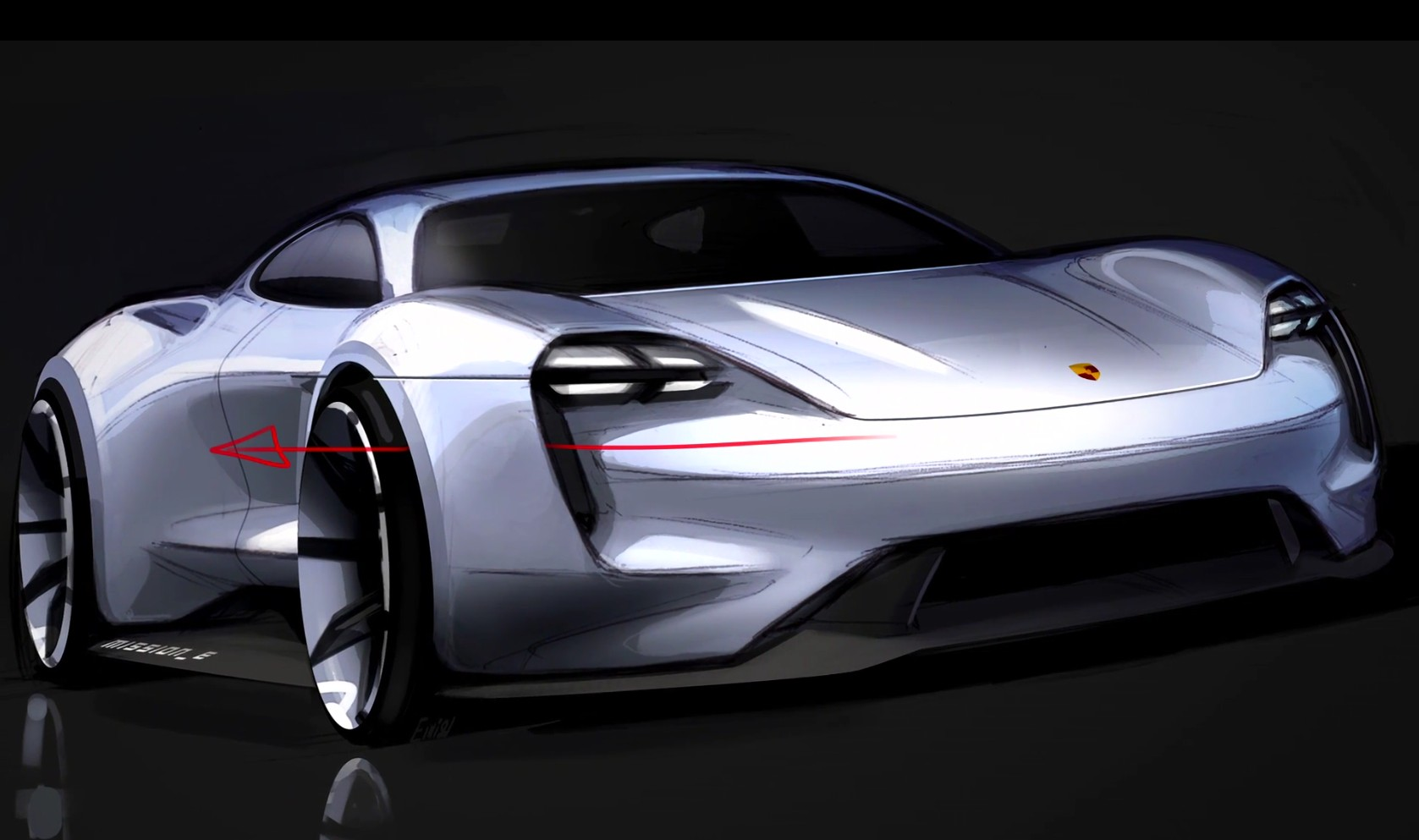Behind the scenes porsche mission e concept design video for Car inner decoration