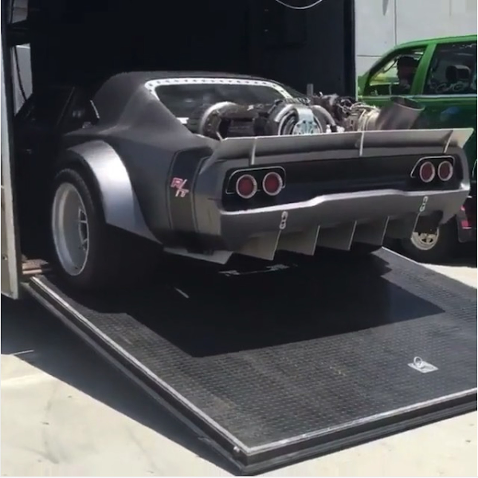 Is That A Jet-powered Charger On Set Of 'Fast 8' Movie?