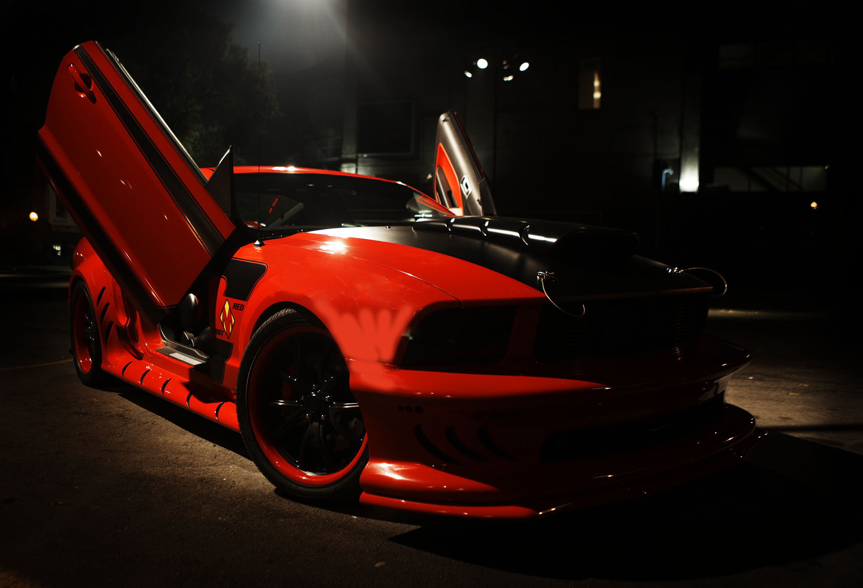 Red Mist Mustang From Kick Ass Movie Created By Galpin