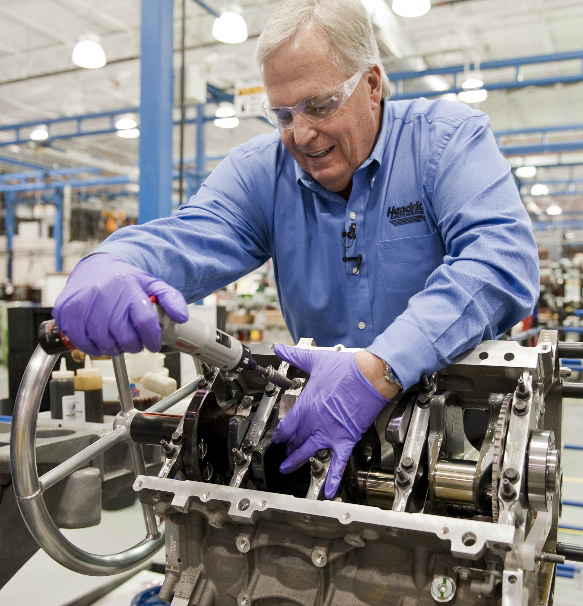 Rick hendrick hand builds a corvette z06 engine for Hendricks house
