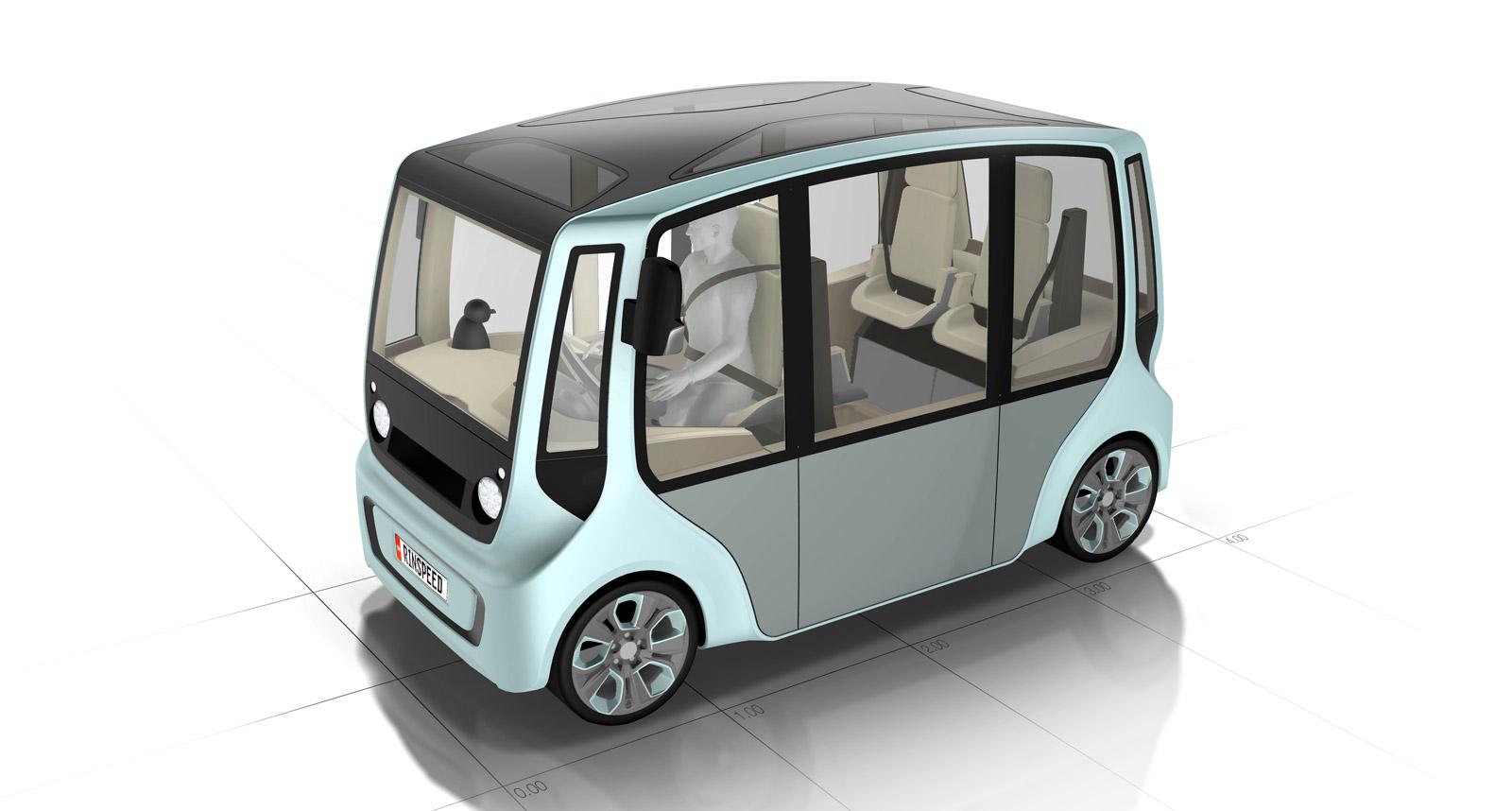 Rinspeed MicroMAX Concept: 6 Upright Seats In MINI-Sized Van