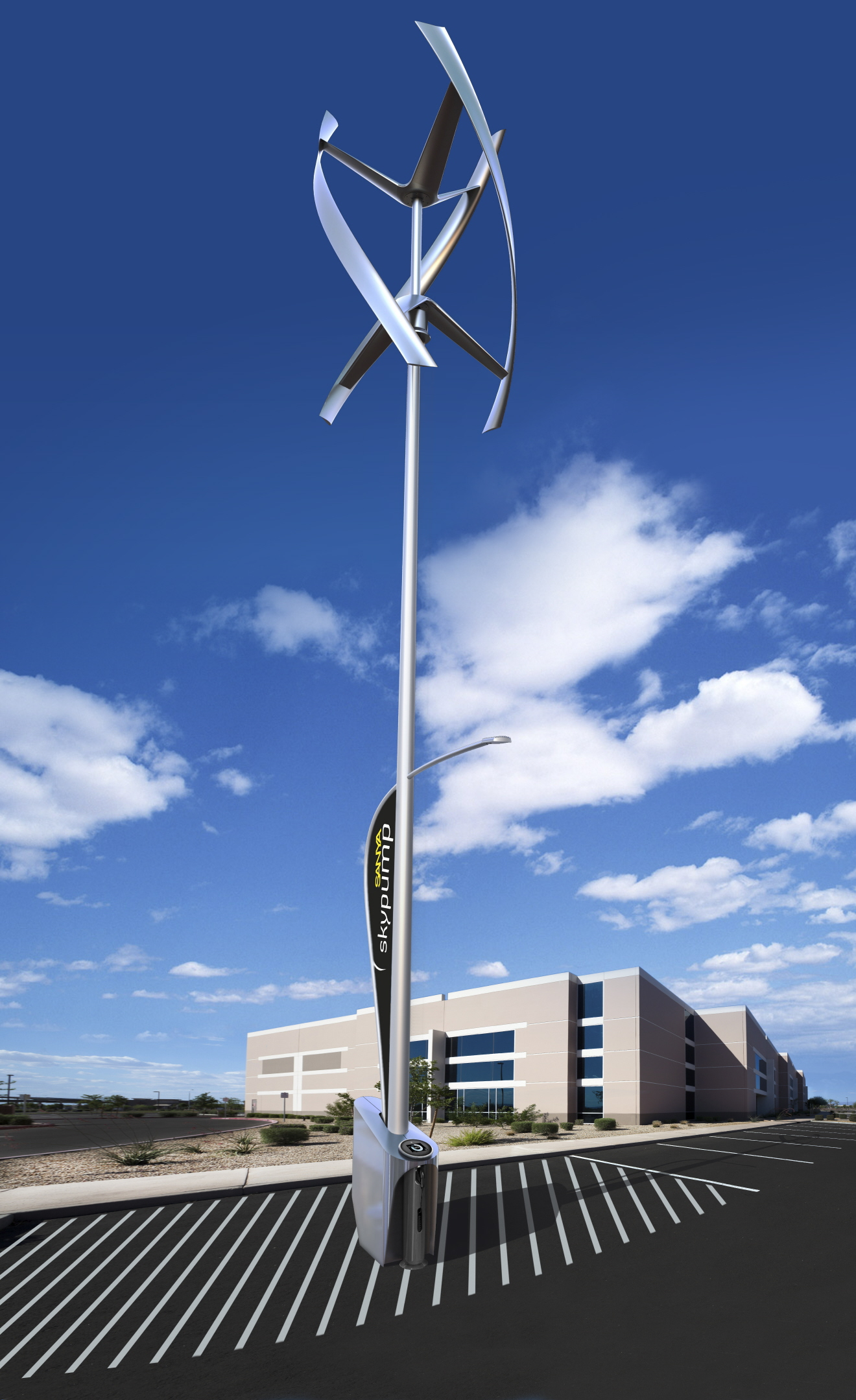 Ge Skypump Charges Electric Cars With Wind Power
