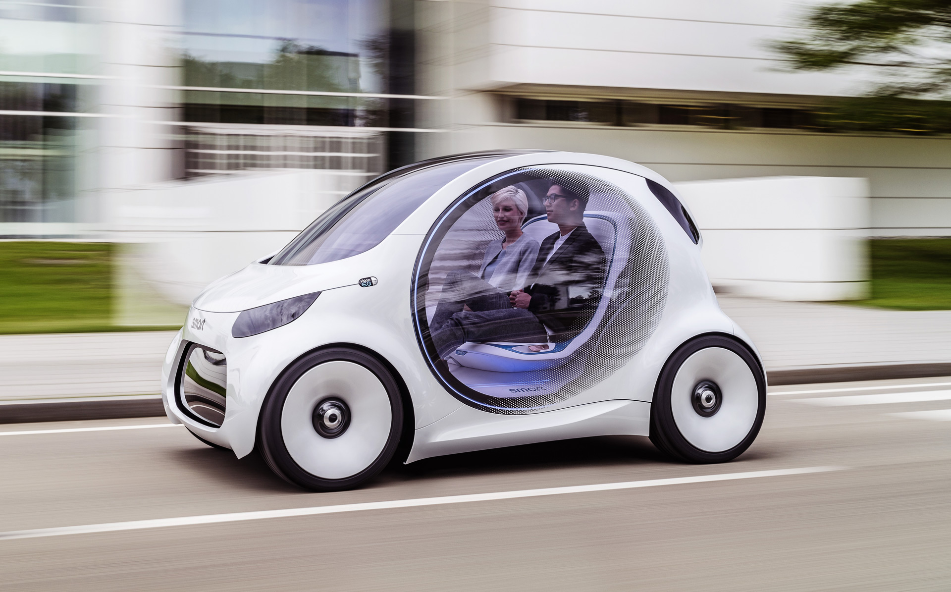 the smart vision eq fortwo is a self driving electric. Black Bedroom Furniture Sets. Home Design Ideas