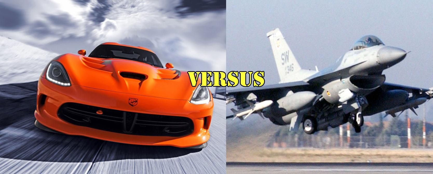 Srt Viper Races F 16 Viper Fighter Jet Video