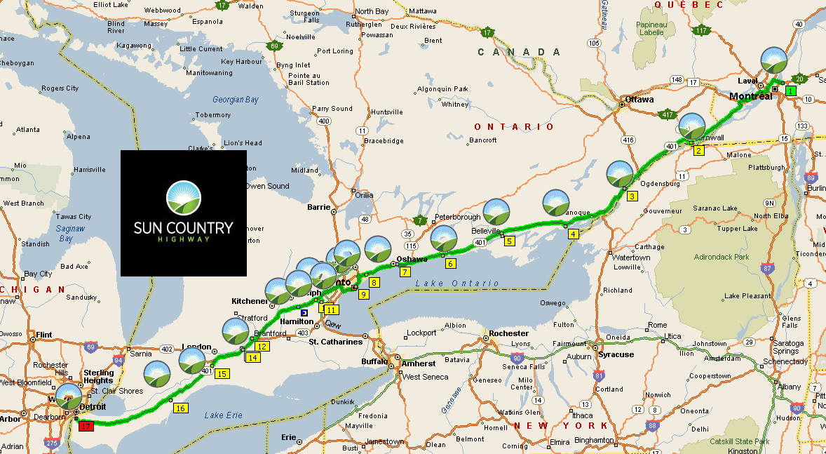 Tesla Charging Stations Map >> Electric Cars Can Now Travel From Montreal To Detroit Via Sun Country Charging Stations