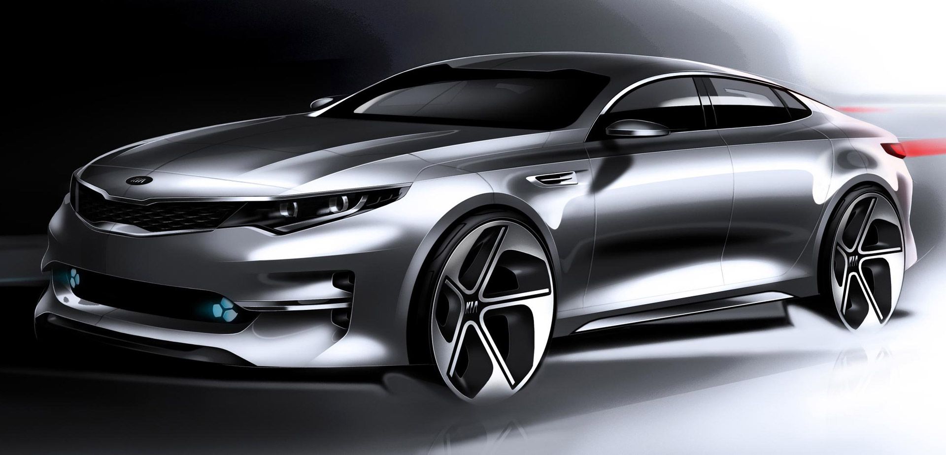 2016 kia optima teased ahead of 2015 new york auto show. Black Bedroom Furniture Sets. Home Design Ideas