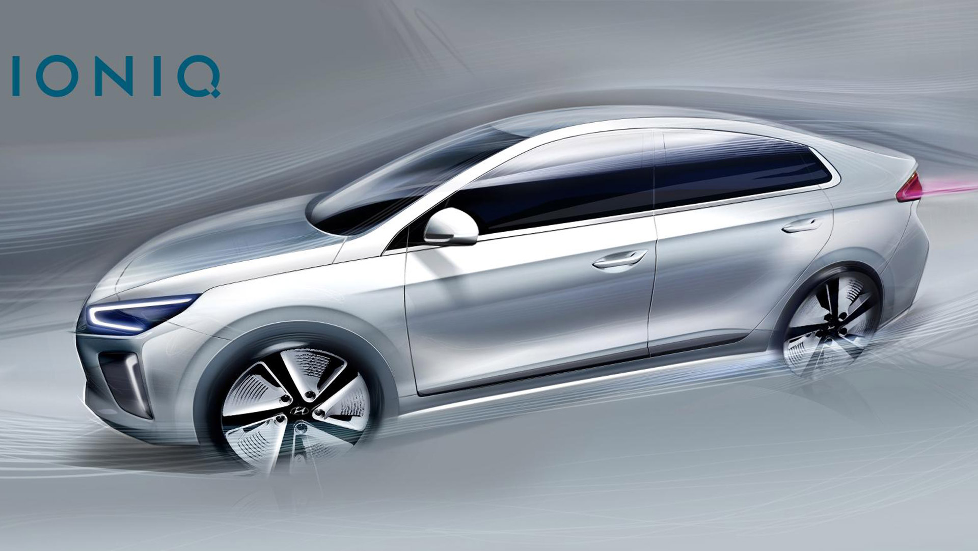 more 2017 hyundai ioniq sketches before hybrid electric cars debut. Black Bedroom Furniture Sets. Home Design Ideas