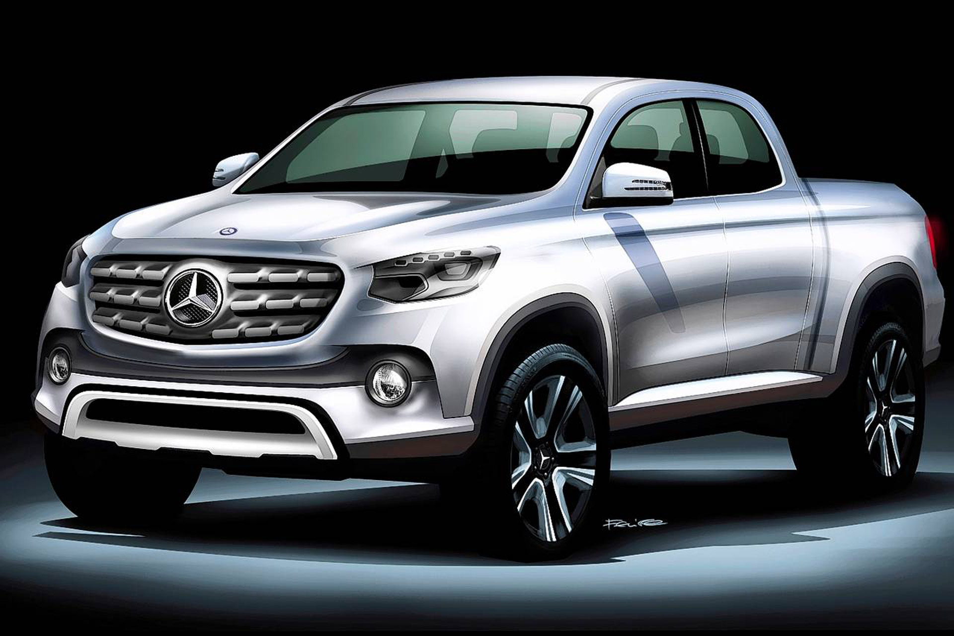 mercedes to preview pickup in concept form at 2016 paris auto show report. Black Bedroom Furniture Sets. Home Design Ideas