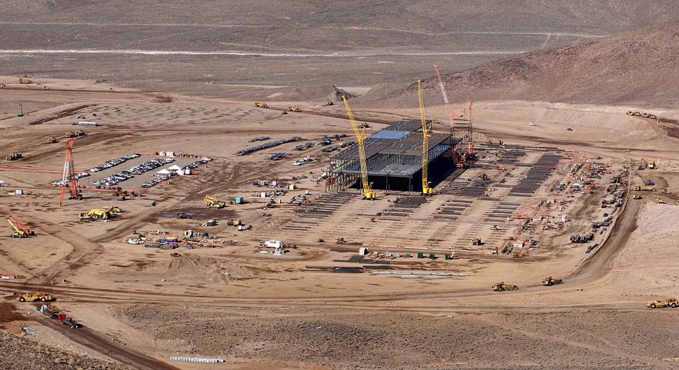 Tesla Gigafactory For Electric Car Batteries Site Work