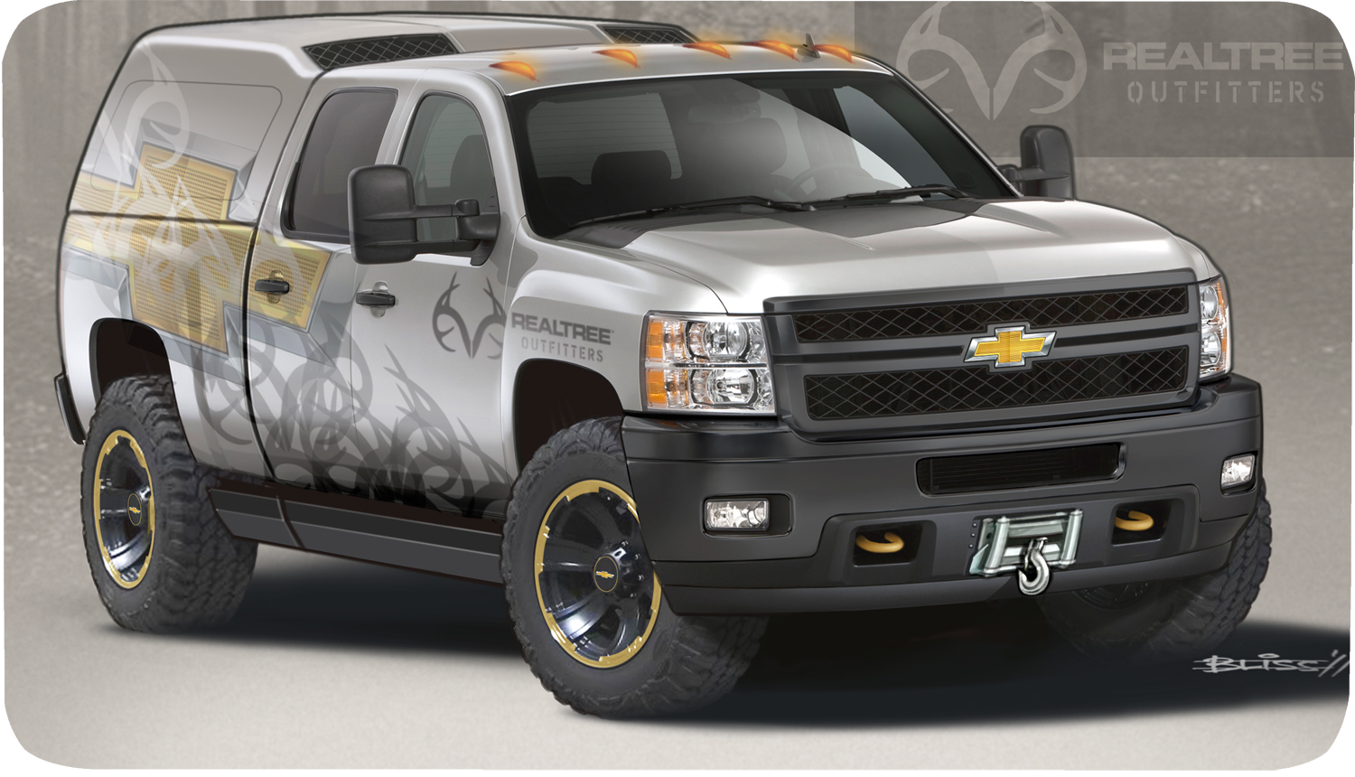 chevy shows silverado 2500 hd realtree concept at sema 2011. Black Bedroom Furniture Sets. Home Design Ideas